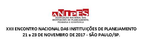 XXII Encontro Nacional da Anipes e Encontro de Demografia IBGE/Anipes